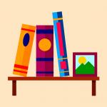 books, shelf, shelving