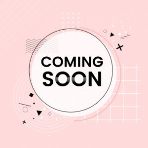 Coming soon shop announcement vector