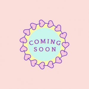 Cute and girly Coming Soon badge vector