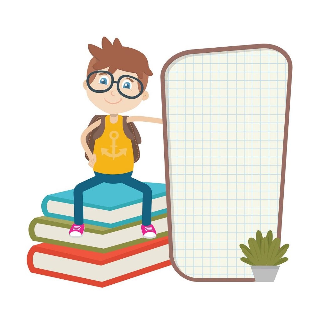 the board, book, students