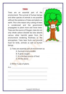 Trees are an essential part of the environment